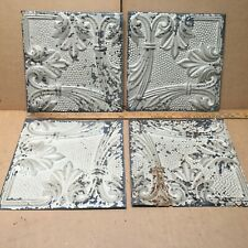 12 Pc Antique 6 X 6 Inch Ornate Salvage Ceiling Tin Metal Tile