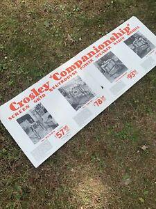 "Crosley Radio Dealer Brochure-companionship Series- Large Foldout 50x16.5"""