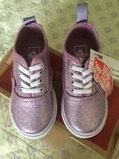 New Vans Metallic Lilac Toddler Girl's Shoes Size 8.5