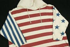 Vintage 90s USA Flag Patriotic Hoodie Sweatshirt Shirt Womens 22 24 Oversize