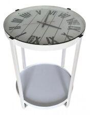 Design Beistelltisch Telefontisch | Couch Laptop Tisch Nachttisch | Uhr | Weiss
