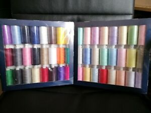 Coats moon thread polyester - Cotton sewing hand machine 1000y x 24 assorted