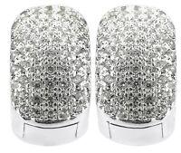 Silver Huggie Earrings Iced Out Bling Cz Diamante Hoop Earrings Men Womens 16mm