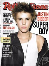 Rolling Stone magazine Justin Bieber The Clash Wall Street Conor Oberst Cars