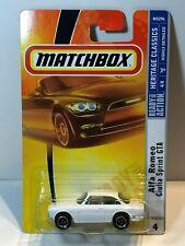 MATCHBOX MB4 1965 ALFA ROMEO GIULIA SPRINT GTA WHITE (2008 VARIATION)