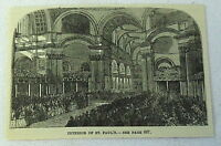1883 magazine engraving~ ST PAUL'S CATHEDRAL London, Interior