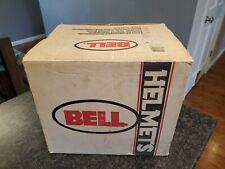 VINTAGE 1990 BELL SKI DOO FULL FACE WHITE & BLACK HELMET SIZE L WITH BOX