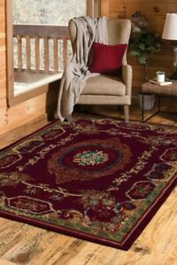 Elegant Burg/tan Oriental Roomsize Rug For The Home 8x10 New