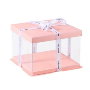 Birthday with Lid Transparent Packaging box Gift Display Gift Box Cake Box