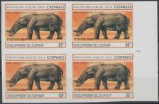 F-EX8733 CONGO MNH 1994 IMPERFORATE PROOF PREHISTORICAL ELEPHANT.
