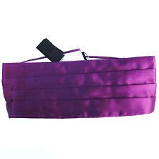 "Vintage Akco English cummerbund Purple rayon satin Waist size 32 33 34 35 36 37"""