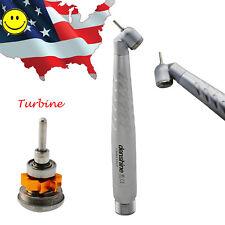 US FDA Denshine Dental  45° High Speed Handpiece Golden Turbine Cartridge 2 hole