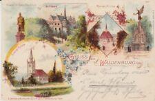 Ansichtskarte Schlesien  Gruss aus Waldenburg    1899