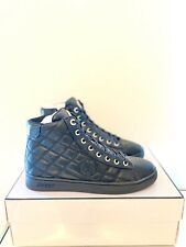 GUESS Black Diamond Quilted High Top Trainers Size UK 5, EU 38 Women's Sneakers