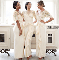 Virgos Lounge Ivory Embellished Wedding Cocktail Bridesmaid Maxi Dress 6 - 14