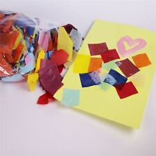 Multi Coloured Tissue Paper Squares Kids Craft & Collage 500g of Mosaic Pieces