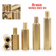M2M2.5M3 M4 Female To Male Brass Hexagonal Pillars PCB Threaded Standoff Spacers