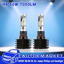 2X H4 9003 50W 7000LM LED Headlight Kit Hi/Lo Beam 6000K White Car Front Bulb