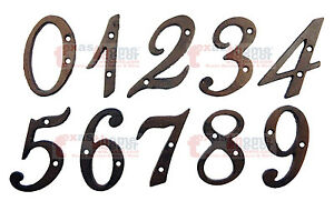 Metal House Numbers Street Address 4 inch Rustic Cast Iron Pick #'s from 0-9