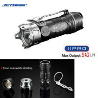 Jetbeam II Pro 510 Lumens Cree XP-L HI LED Tactical Flashlight + Attack bezel