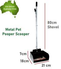 Metal Pet Pooper Scooper Dog Waste Poop Scoop Cleaning Long Handle Pick Up Poo