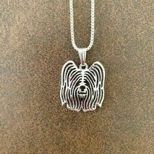 """SKYE TERRIER DOG NECKLACE PENDANT WITH 18"""" SILVER NECKLACE FREE GIFT BAG"""
