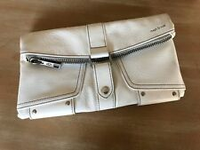 Matt & Nat Vegan Leather White Clutch Bag Purse Recycled Materials
