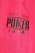 Men's Size XL World Series of Poker Game Shirt Red Gambling Las Vegas Casino SS