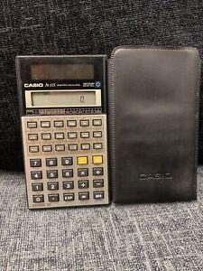 RARE Vintage Casio fx-115 SOLAR 10 digit scientific calculator with  Case