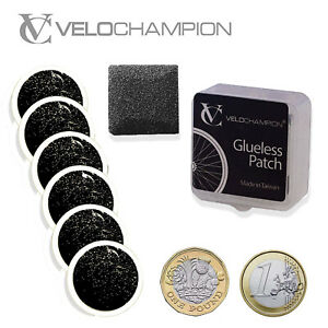 VeloChampion Bike Puncture Repair Kit 6 Inner Tube Tyre Patches Road Mountain