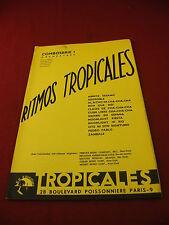 Partition Ritmos Tropicales Comboserie 1 Piano Accordéon Violon Clarinette Saxo