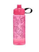Victoria's Secret Pink Collegiate Water Bottle Pink/Black Logo - Nib