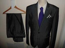 "VGC* 38L NEXT Mens 2 Piece Sharkskin Suit Grey Shiny Tonic SIZE 38""L W34 L33"