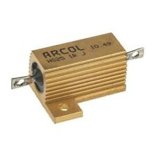 1 x Arcol Aluminium Housed Axial Wire Wound Fixed Resistor HS25 1R J, 1Ω ±5% 25W