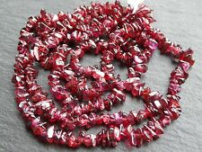 """*CLEARANCE*  2 STRINGS x GARNET CHIPS, 5x6mm 34"""" strands, 300 beads"""