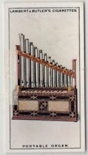 Portative Small Pipe Organ Organetto Music Instrument 1920s Ad Trade Card