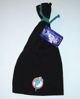 Cap Beanie Hat Vintage 90s Miami Dolphins NFL Football Knit Tie Style Tupac NEW