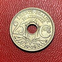 #3663 - RARE - 25 centimes .1939. FDC sortie de rouleau - FACTURE