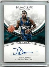 JOE DUMARS 2016-17 PANINI IMMACULATE COLLECTION HS CERTIFIED AUTOGRAPH#/49