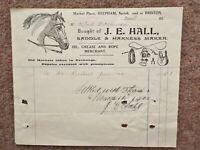 1921 Reepham Briston Norfolk Invoice Letterhead Engraving Saddle + Harness maker