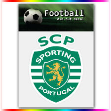 "Sporting Clube de Portugal UEFA Die Cut Vinyl Sticker Car Bumper Window 4""x3.1"""