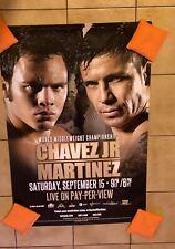 Original Sergio Martinez Vs. Julio Cesar Chavez Jr. Boxing Poster Rare PPV Fight