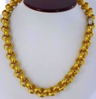 "AUTHENTIC 22K YELLOW GOLD BELCHER NECKLACE CHAIN 18"" 135 GRAMS HEAVY GOLD CHAIN"