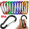 5X Practical Aluminum Carabiner D-Ring Key Chain Clip Snap Hook Camping Keychain