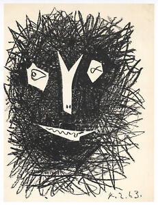 """Pablo Picasso original lithograph """"Satyr II"""""""