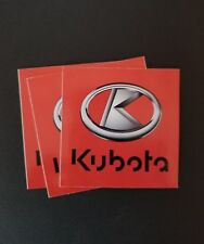 3 Kubota tractor equipment stickers  Bumper Window Tool Box Decal Truck