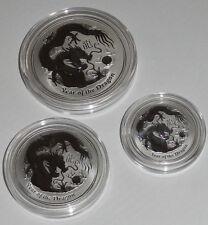 Australien 2 Oz, 1 Oz u. 1/2 Oz Silber Lunar Drache II 2012