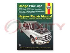 Dodge Ram 1500 Haynes Repair Manual Sport TRX4 ST SXT WS SLT Laramie SRT-10 dy