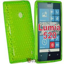 Cover For Nokia Lumia 520 Green Gel silicone TPU silicone