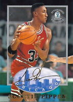 SCOTTIE PIPPEN 1997 AUTOGRAPHED COLLECTION CARD! 6X NBA CHAMP! CHICAGO BULLS